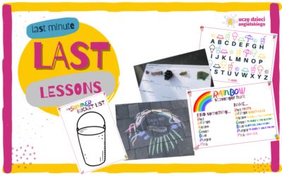 LAST LESSON – pomysły last minute